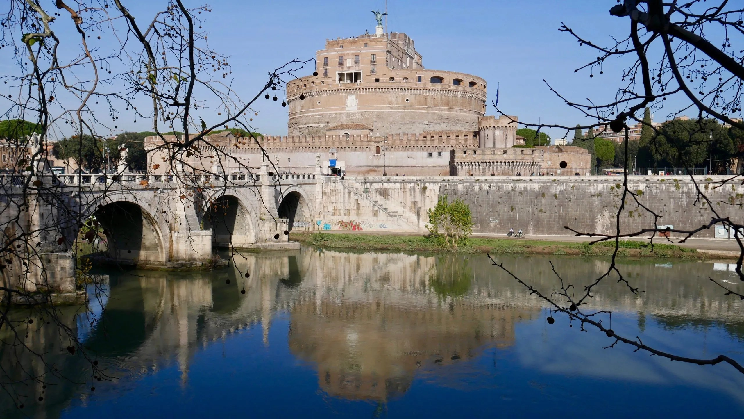 Castel Sant Angelo Rome reflection