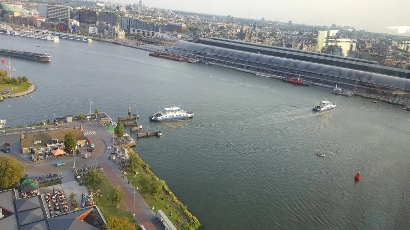 Ferries Ij Centraal Station Amsterdam