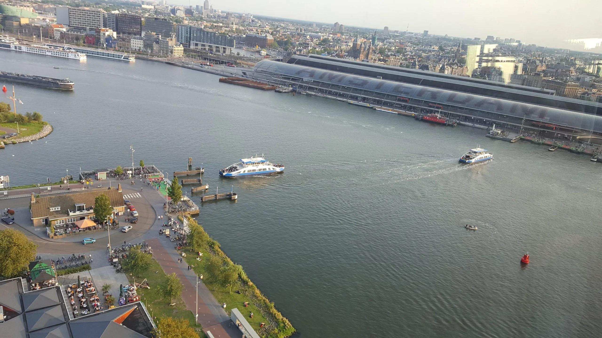 Ferries Ij Centraal Station Amsterdam