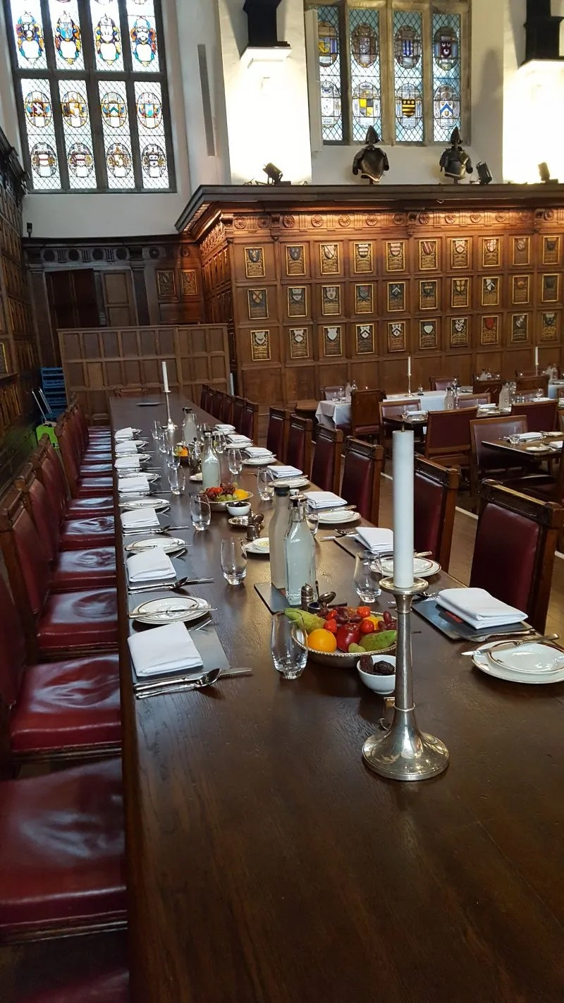Middle Temple table