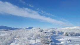 Sun snow Venabu Norway