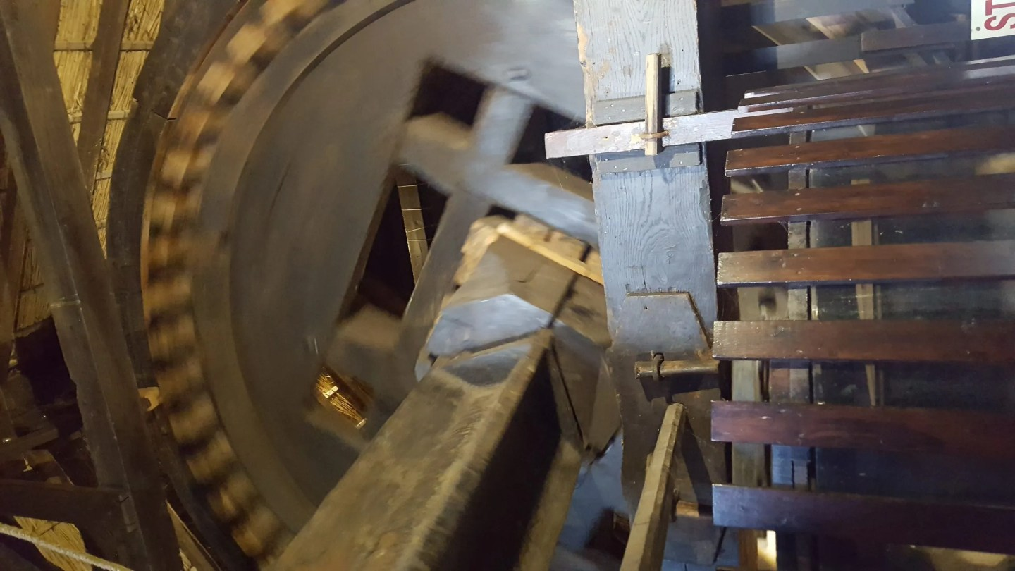 Dutch windmill mechanism