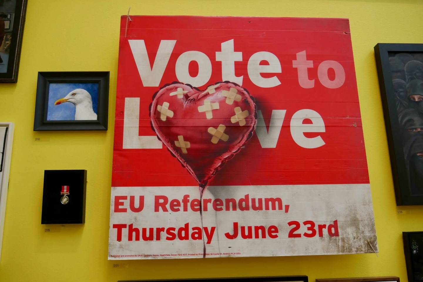 BanksyVote Leave Summer Exhibition