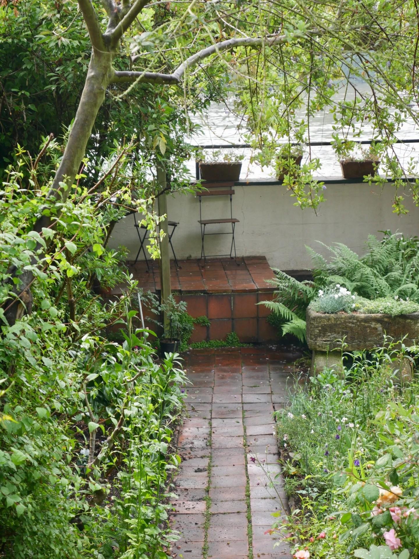 Emery Walker's house garden view