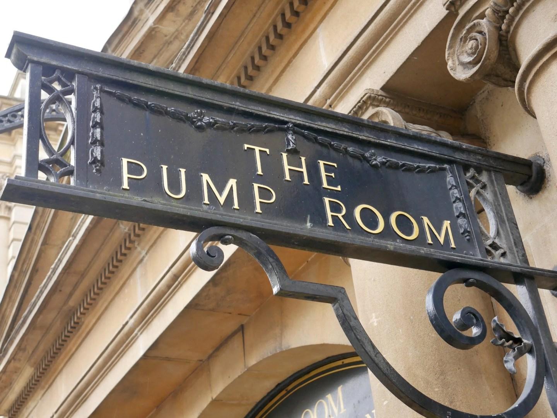 Bath Pump Room sign