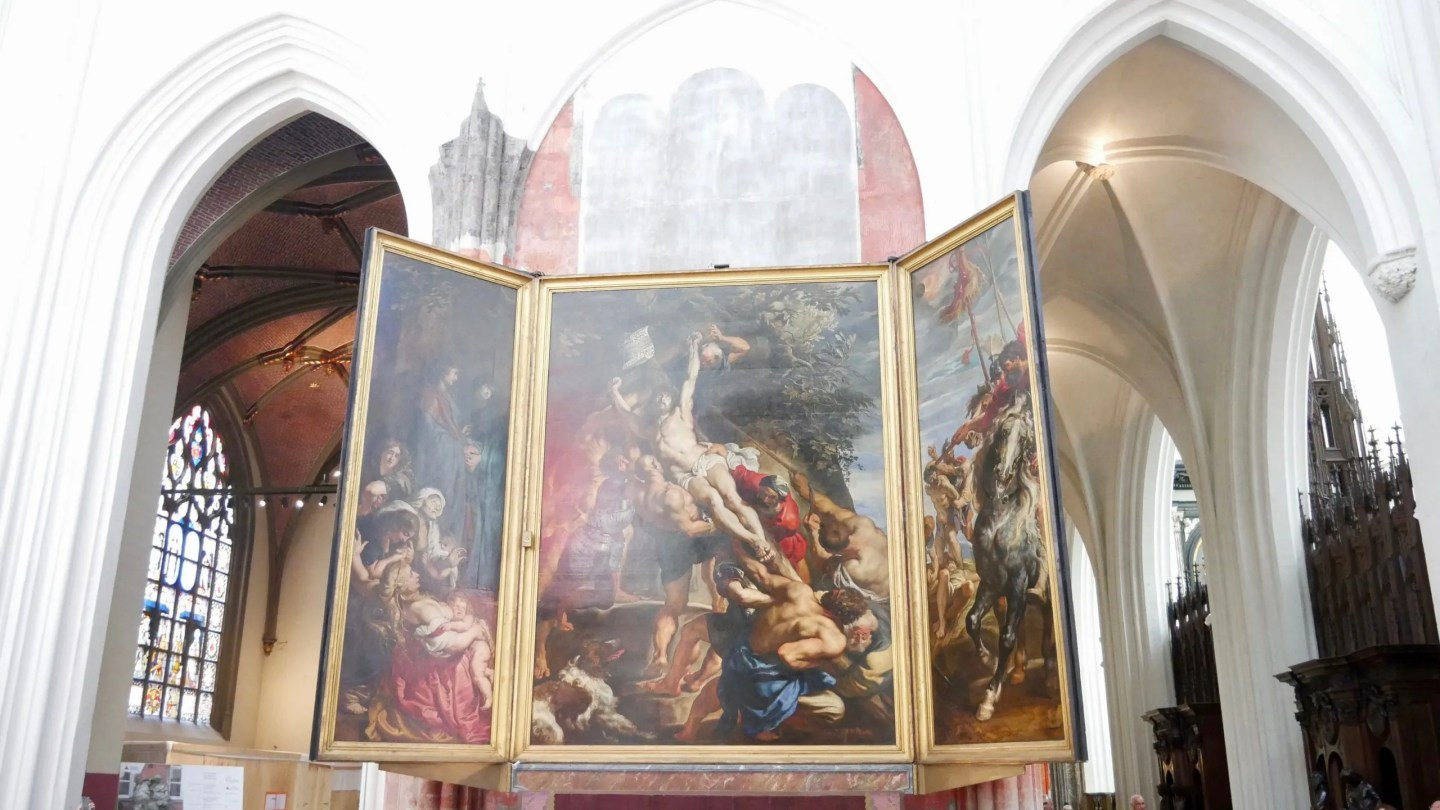 Rubens Descent from the Cross alterpiece Antwerp Cathedral