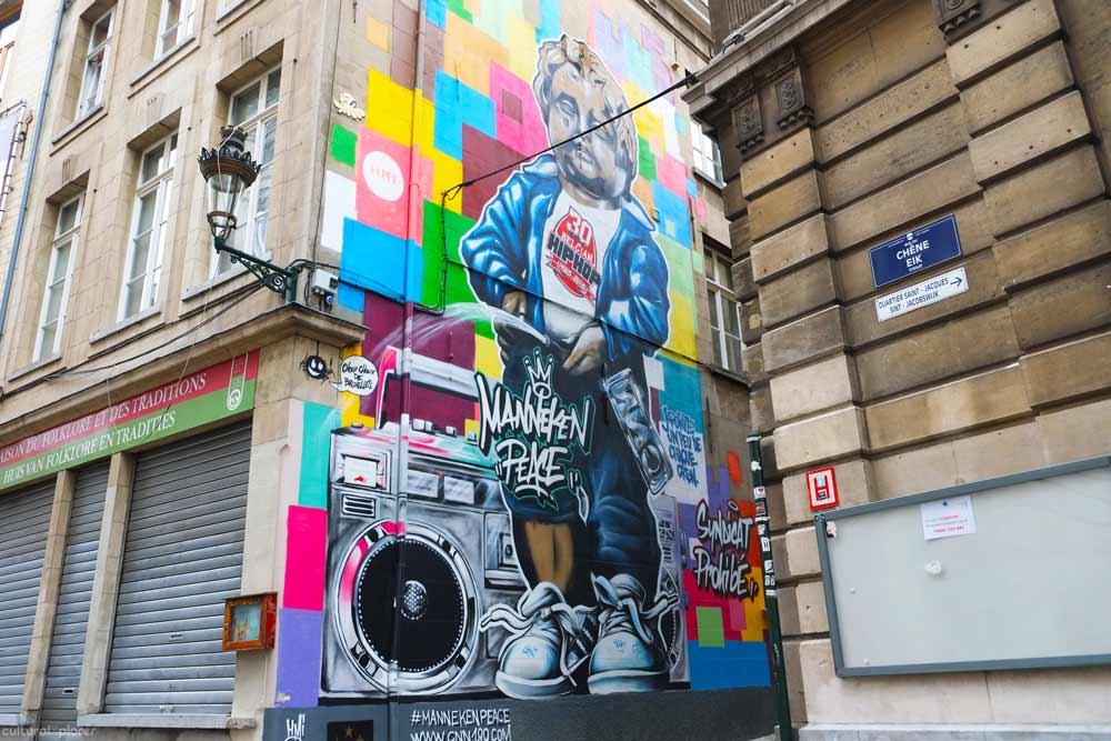 Manneken Peace Street Art Brussels
