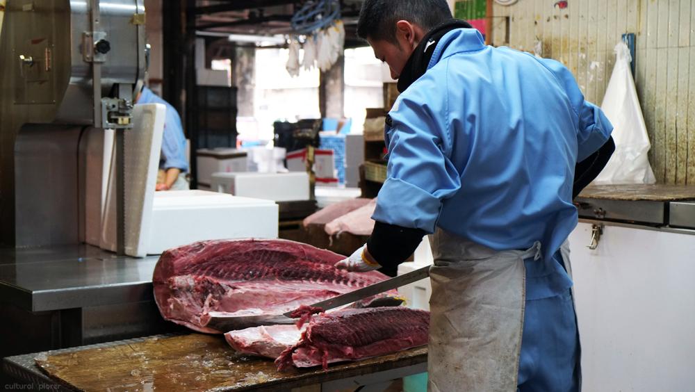 Tsukiji Cutting Tuna