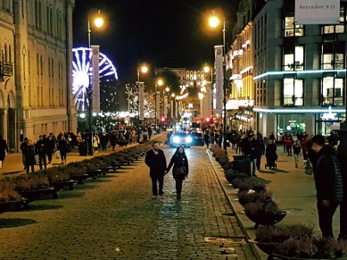 Jul på Karl Johan. Foto: Siri Wolland