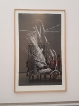 Georg Baselitz. Linoliumstrykk. Foto fra utstillingen: Siri Wolland