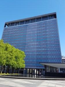 Høyblokka idag. Inspirert av FN bygningen i New York. Foto: Siri Wolland