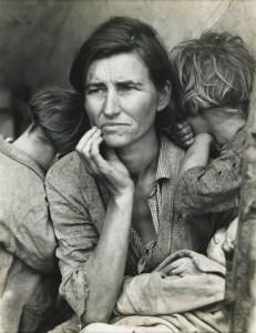 Migrant Mother, Nipomo, California, 1936 by Dorothea Lange.