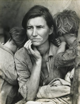 Migrant Mother, Nipomo, California, 1936 by Dorothea Lange.