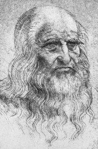 Leonardo da Vinci. Selvportrett fra 1514. av Leonardo da Vinci.