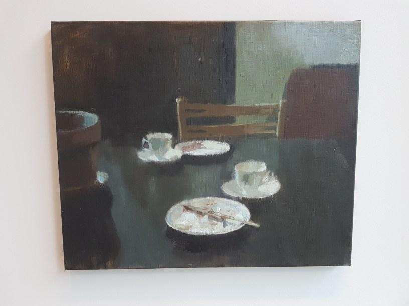 """Roald Sivertsen, """"Søndag"""". Galleri Semmingsen. Foto fra utstillingen: Siri Wolland"""
