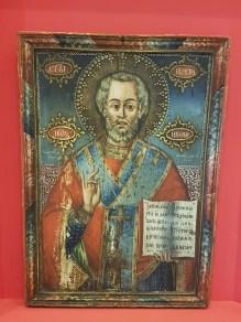 Et istandsatt ikon fra Museikon, Alba Iulia. Foto fra utstillingen: Siri Wolland.