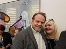 Tom Blomberg og Unni Askeland, fra utstillingen. Foto: Siri Wolland.