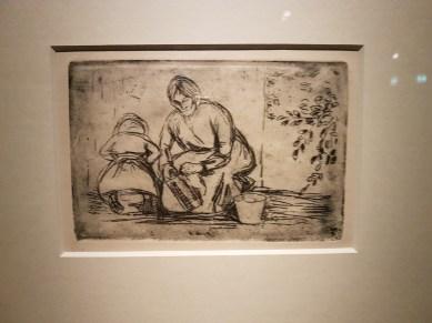 Edvard Munch, Husarbeid, 1903. Radering. Foto fra utstillingen: Siri Wolland.