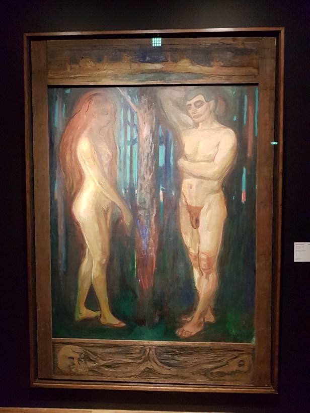 Edvard Munch, Adam og Eva, 1918. Foto fra utstillingen: Siri Wolland