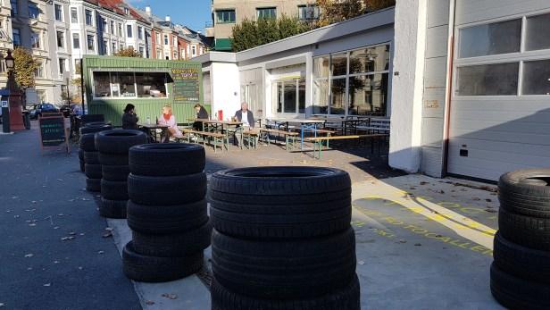 Frogner stasjon, foto fra utstillingen og kafeen: Siri Wolland.