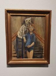 Per Krohg (1889-1965) Guy med hund, årstall ukjent. Foto fra utstillingen: Siri Wolland.