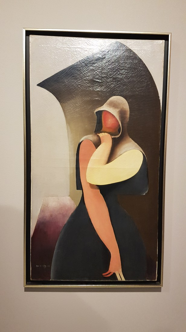 Per Krohg (1889-1965), Dame mot hvelvet bakgrunn, 1919. Foto fra utstillingen: Siri Wolland.