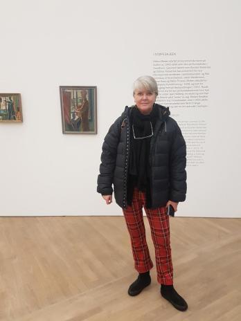 Bloggeren på utstilling, foto Tom Blomberg
