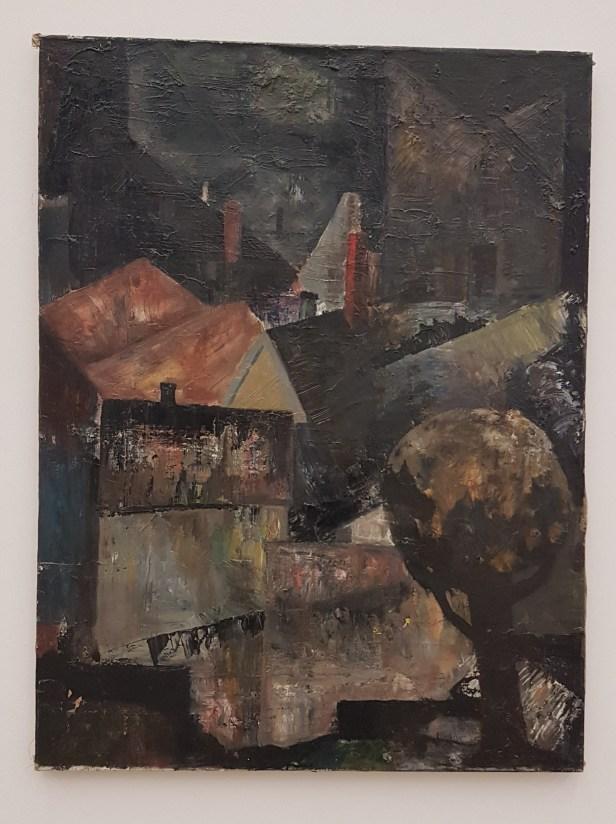 Håkon Bleken, Hustak, 1961. Foto fra utstillingen; Siri Wolland