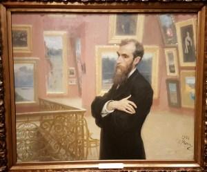 Ilja Repin, Portrett av Pavel Tretjakov, 1901. Foto fra utstillingen; Siri Wolland.