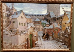 Apollinarij Vasnetsov, Budbringere. Tidlig morgen i Kreml, 1913. Foto fra utstillingen; Siri Wolland.