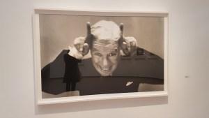 Charlie Chaplin. Fra utstillingen Avedons Amerika, Henie Onstad kunstsenter. Alle fotografier Richard Avedon. Foto fra utstillingen; Siri Wolland.