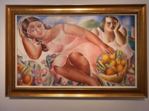 Emiliano di Cavalcanti (1897-1976), Women with fruits, 1932. Foto fra utstillingen Siri Wolland.