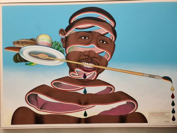 Chéri Samba, J`aime la couleur, Foto fra utstillingen Siri Wolland.