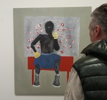 Amadou Sanogo, Le Rêve d`un meneur, 2019. Foto fra utstillingen Siri Wolland.