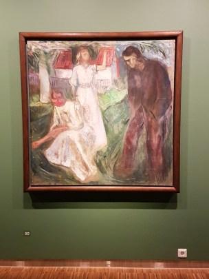 Edvard Munch, Livet: høyre del, 1910. Foto fra utstillingen: Siri Wolland