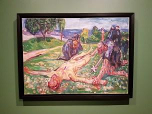 Edvard Munch, Sigurd Slembe, 1909. Foto fra utstillingen: Siri Wolland