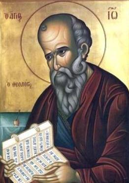 san giovanni evangelista secondo la classica iconografia orientale