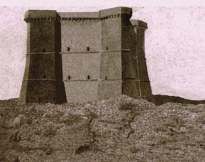 La torre Fiumicelli in una ricostruzione di Paolo Marzano