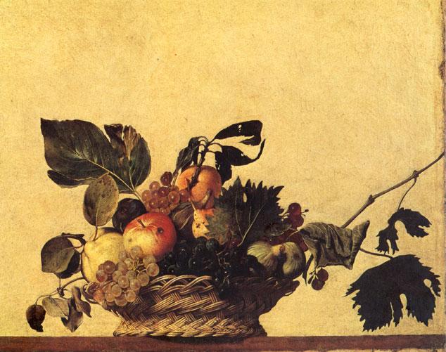 Caravaggio: Canestra di frutta
