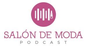 logo podcast salón de moda con imagen de cremallera