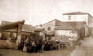 Chabolas en los arrabales de Madrid. 1900