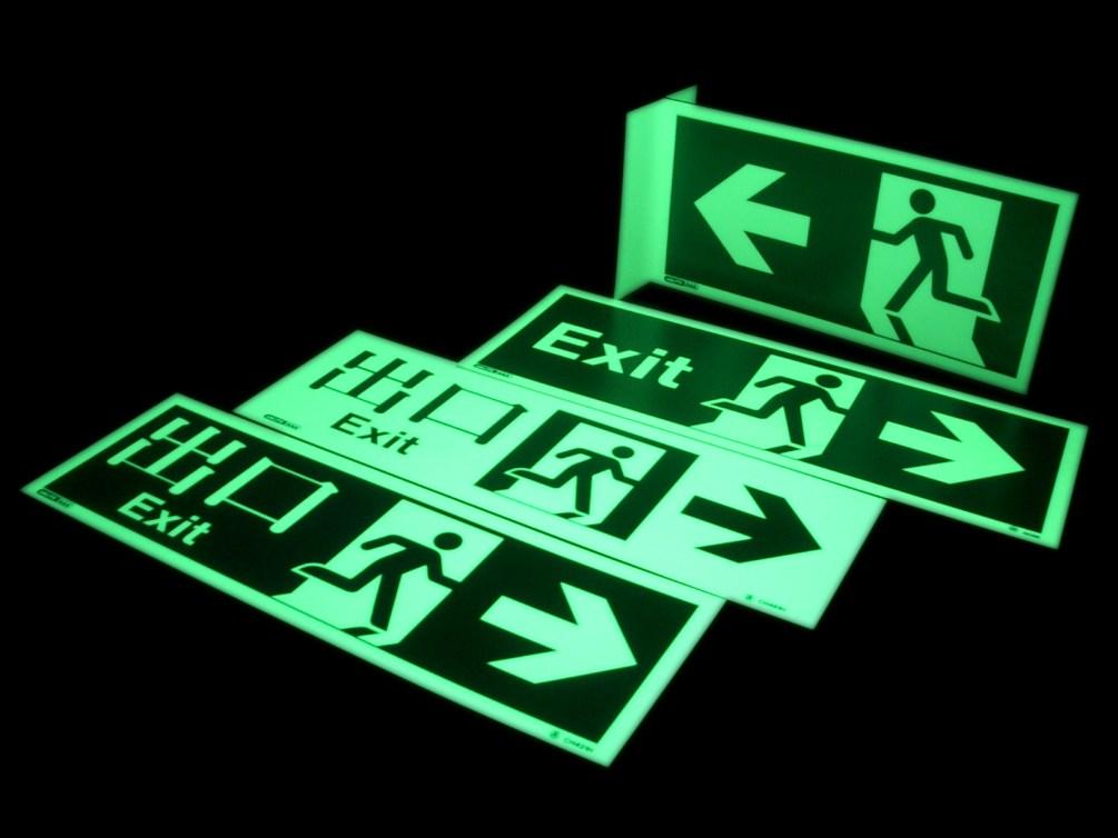 photoluminescent-signs