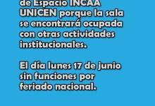 Photo of INCAA UNICEN sin funciones este finde