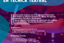 Photo of Convocatoria Técnica Teatral