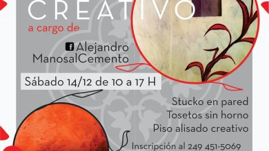 Photo of Curso Cemento Creativo en La Noria