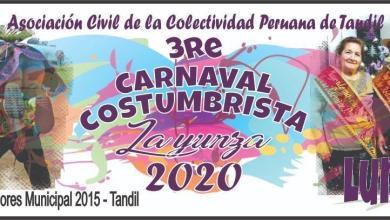 Photo of 3° CARNAVAL COSTUMBRISTA- LA YUNZA 2020