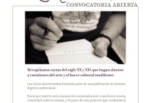 Photo of Cartas Manuscritas, Convocatoria abierta