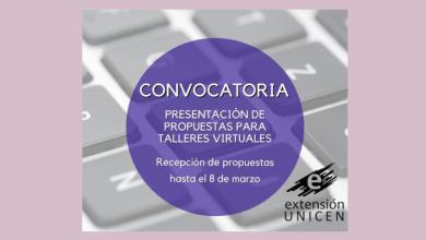 Photo of CONVOCATORIA A PROPUESTAS DE TALLERES VIRTUALES ABIERTOS A LA COMUNIDAD