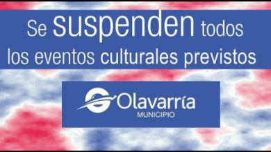 Photo of SE SUSPENDEN EVENTOS CULTURALES EN OLAVARRÍA…