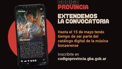 """Photo of SE EXTIENDE LA CONVOCATORIA AL NUEVO CATÁLOGO DE MÚSICA BONAERENSE DE """"CÓDIGO PROVINCIA"""""""